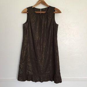 Tabari Bronze Linen Blend Dress 12